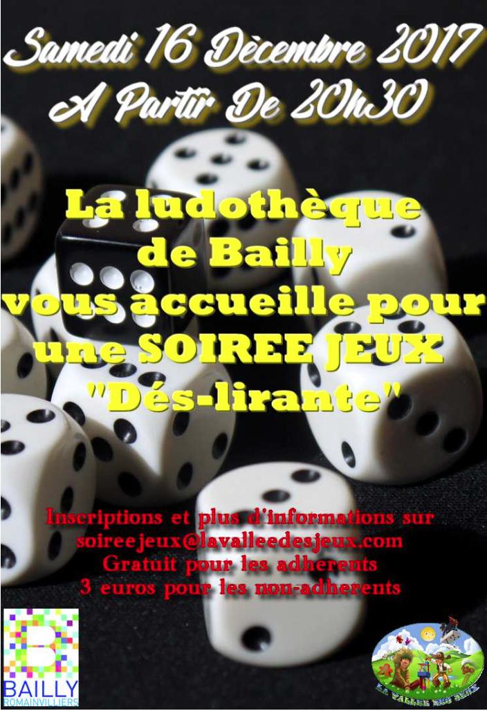 Soirée jeux @ Ludothèque La vallée des jeux