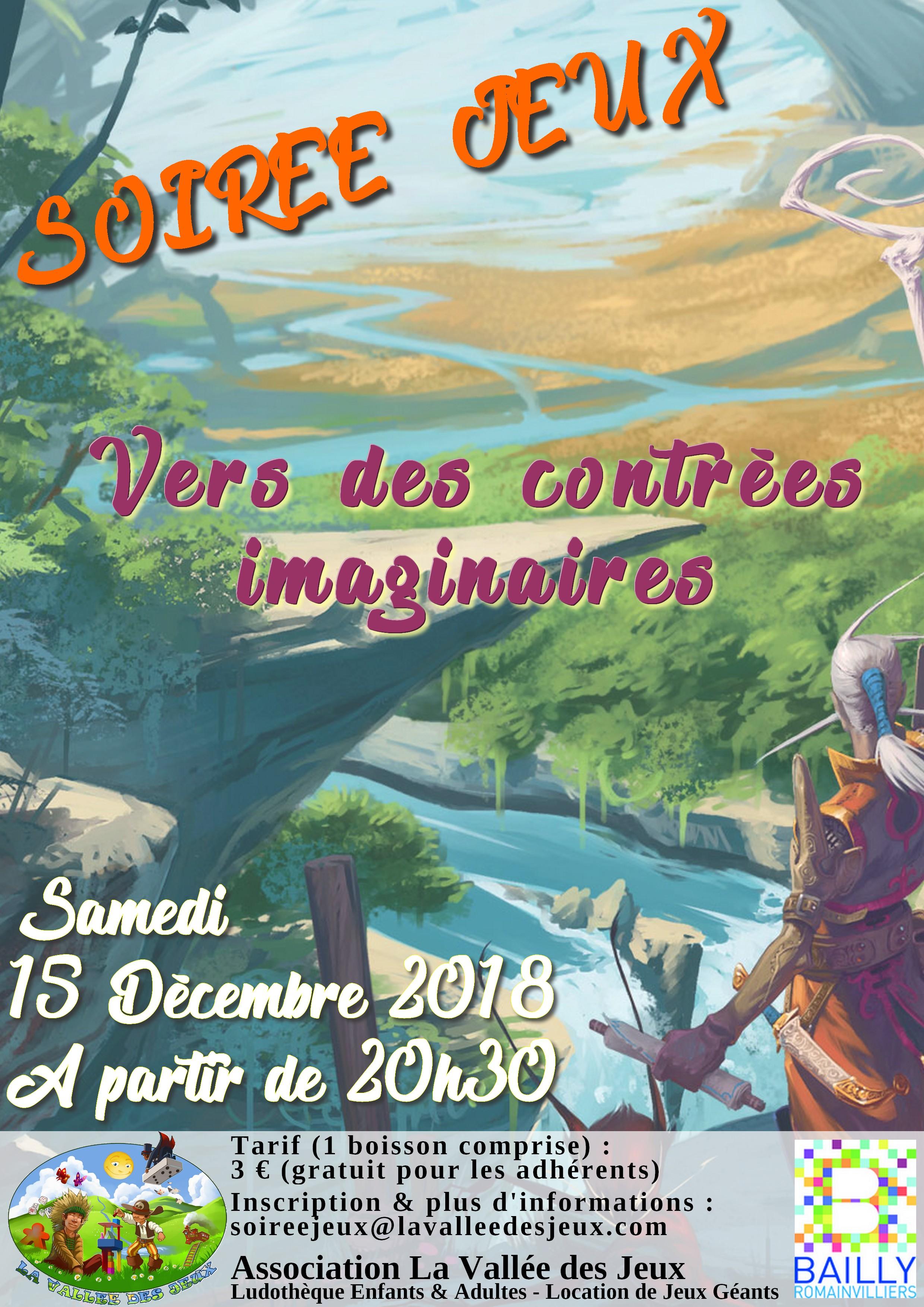 Soirée Jeux : Contrées imaginaires @ Ludothèque La vallée des jeux