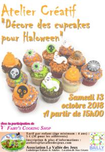 Atelier créatif : Les cupcakes d'Halloween @ Ludothèque La vallée des jeux