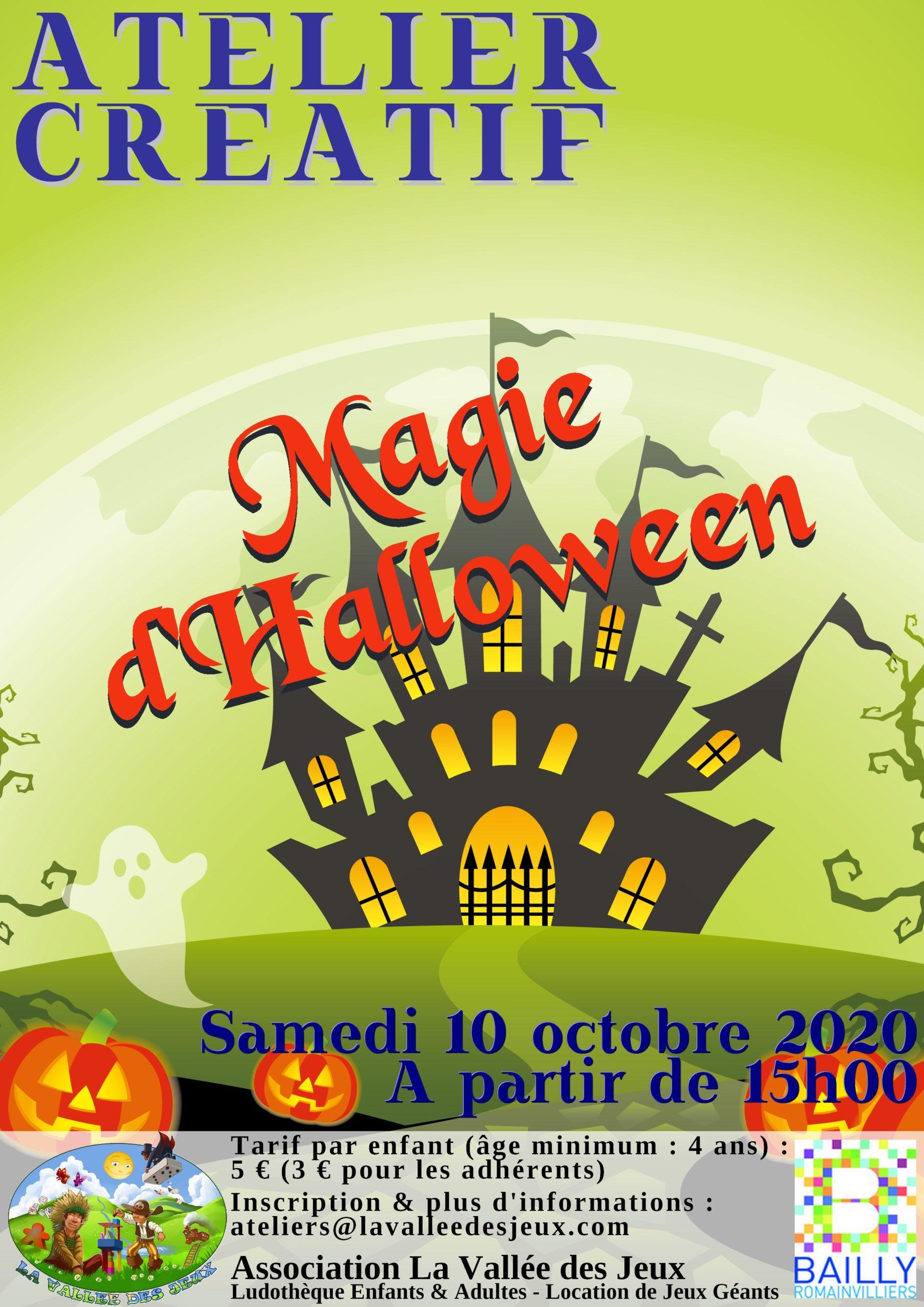 Atelier Créatif - Halloween @ Ludothèque La vallée des jeux